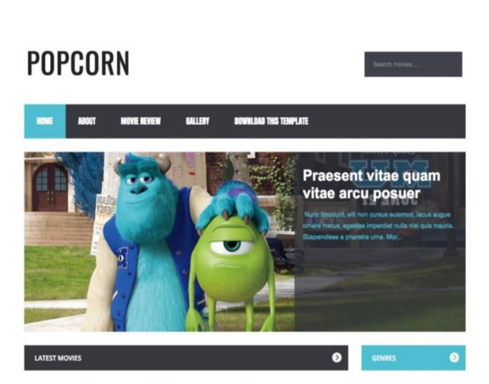 PopCorn Blogger Template