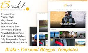 Brakt - Personal Blogger Templates