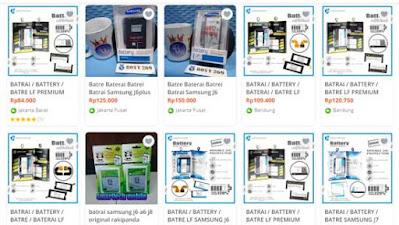 daftar harga baterai samsung j6 plus di toko online