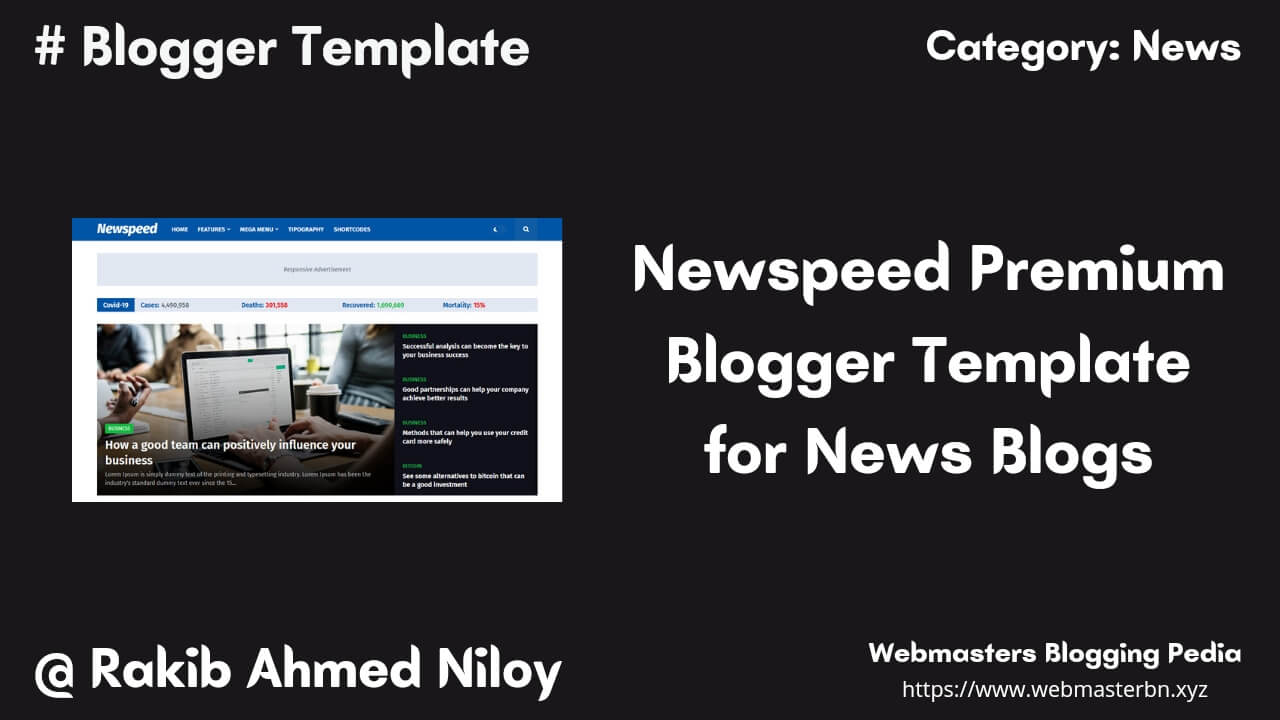 Newspeed Blogger Template by Templatify - Webmasters Blogging Pedia