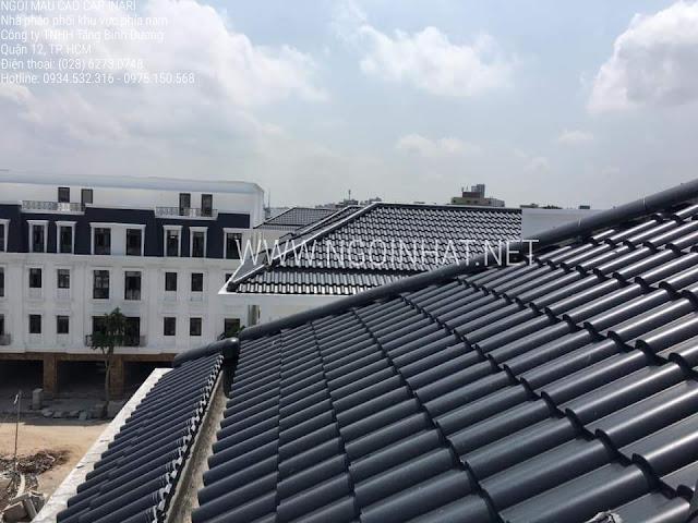 Mái nhà lợp ngói sóng Inari màu đen F11