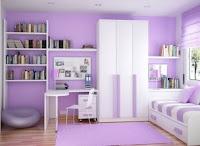 Dormitorio para niña color lila