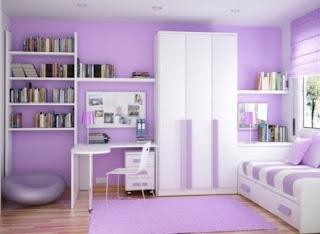 Cuarto niña color lila