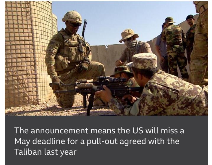 American troops will leave Afghanistan by 11 September, US president says