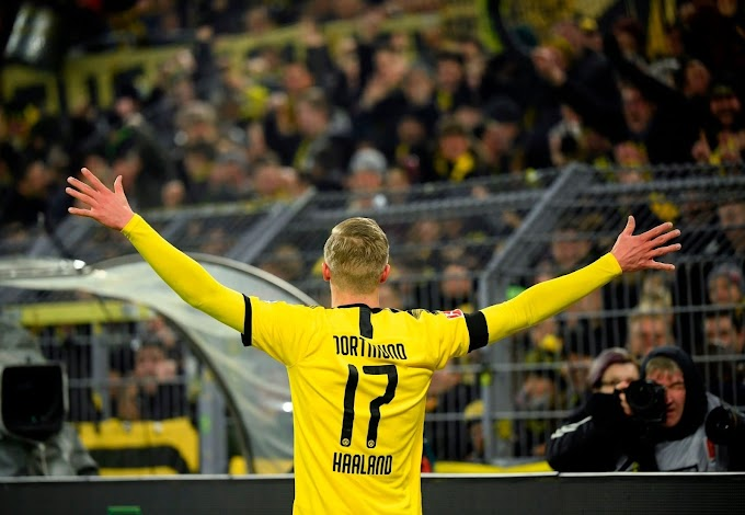 Dortmund 5-1 Cologne: Haaland double in home debut sends BVB to Bundesliga top 3