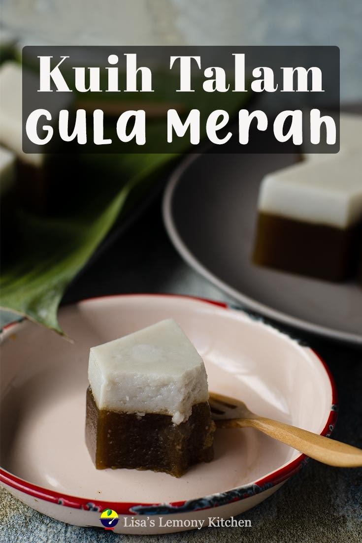 Malaysian dessert known as Kuih Talam. Gluten free steam dessert made of rice flour, tapioca flour and green pea flour, brown sugar, salt and coconut milk. Sweet and salty makes this Malaysian dessert unique.