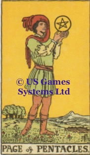 Page of Pentacles | US Games Ltd | Tarot Thrones