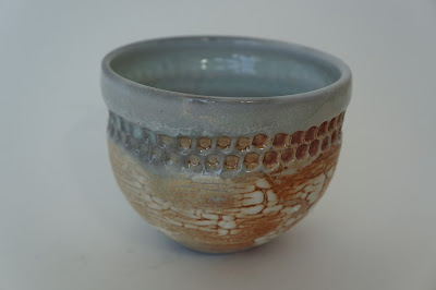 Soda fired ceramic vessel with poking decoration - pottery by Lily L.