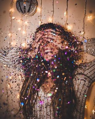 foto tumblr con confeti
