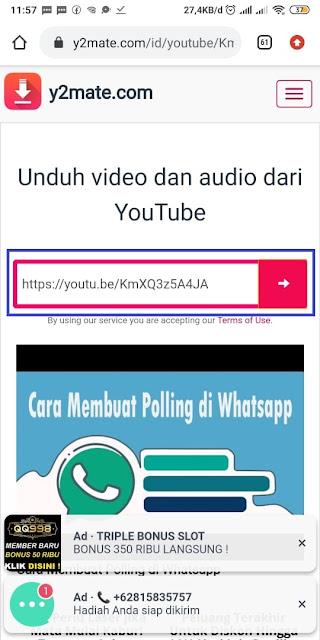 Cara Membagikan Video Offline Youtube ke WA 3