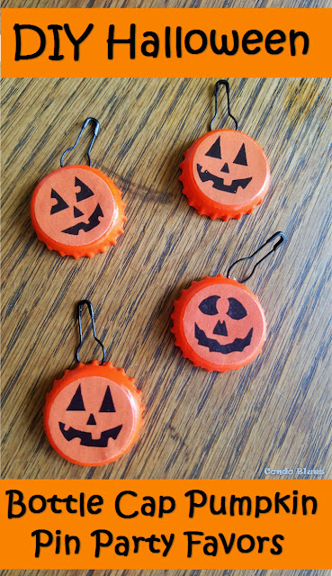 DIY Teal Pumpkin Project Trick or Treat Pumpkin Pin idea