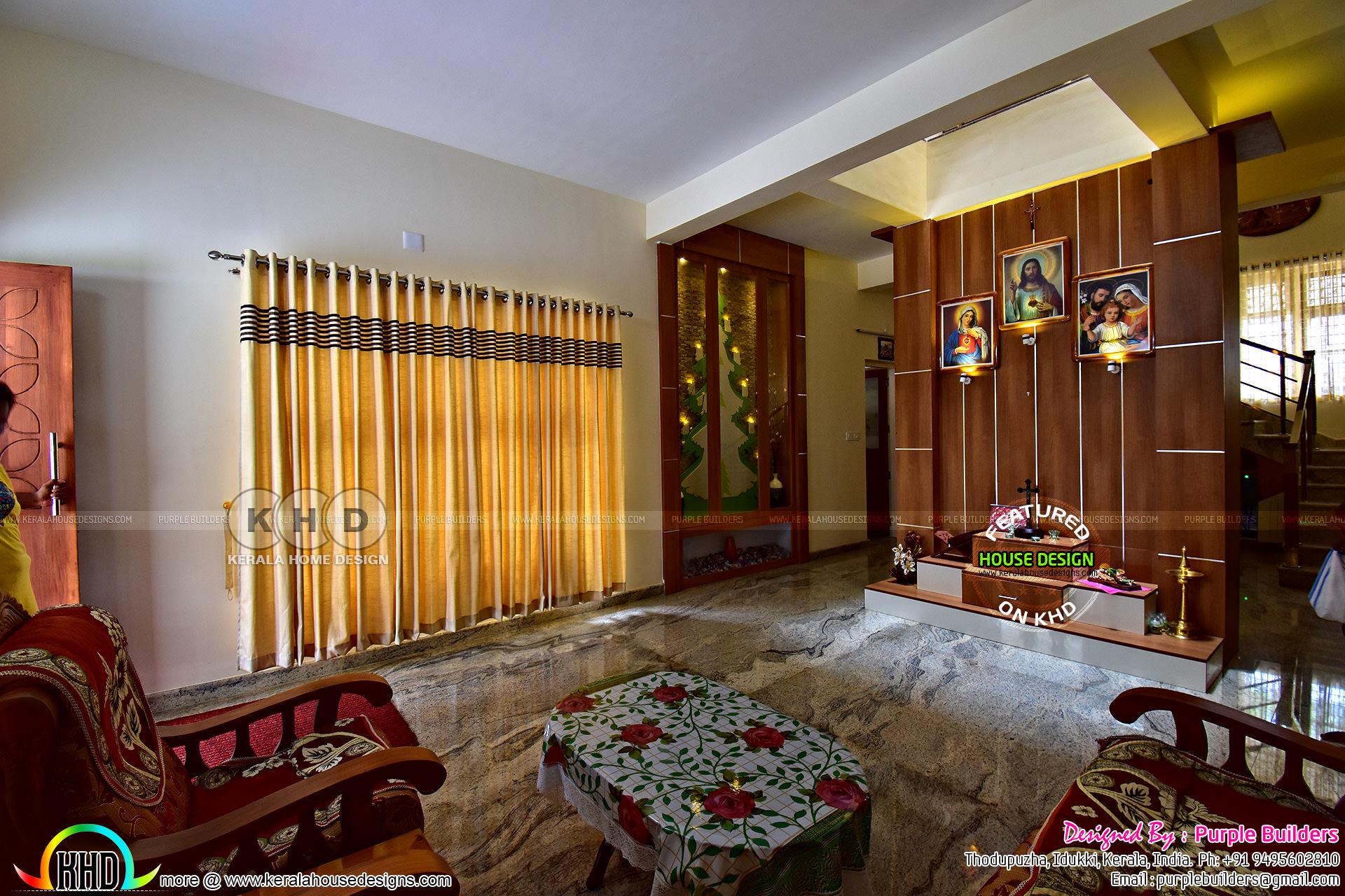 Ground Floor Single House Elevation : Interior finished bedroom kerala home plan