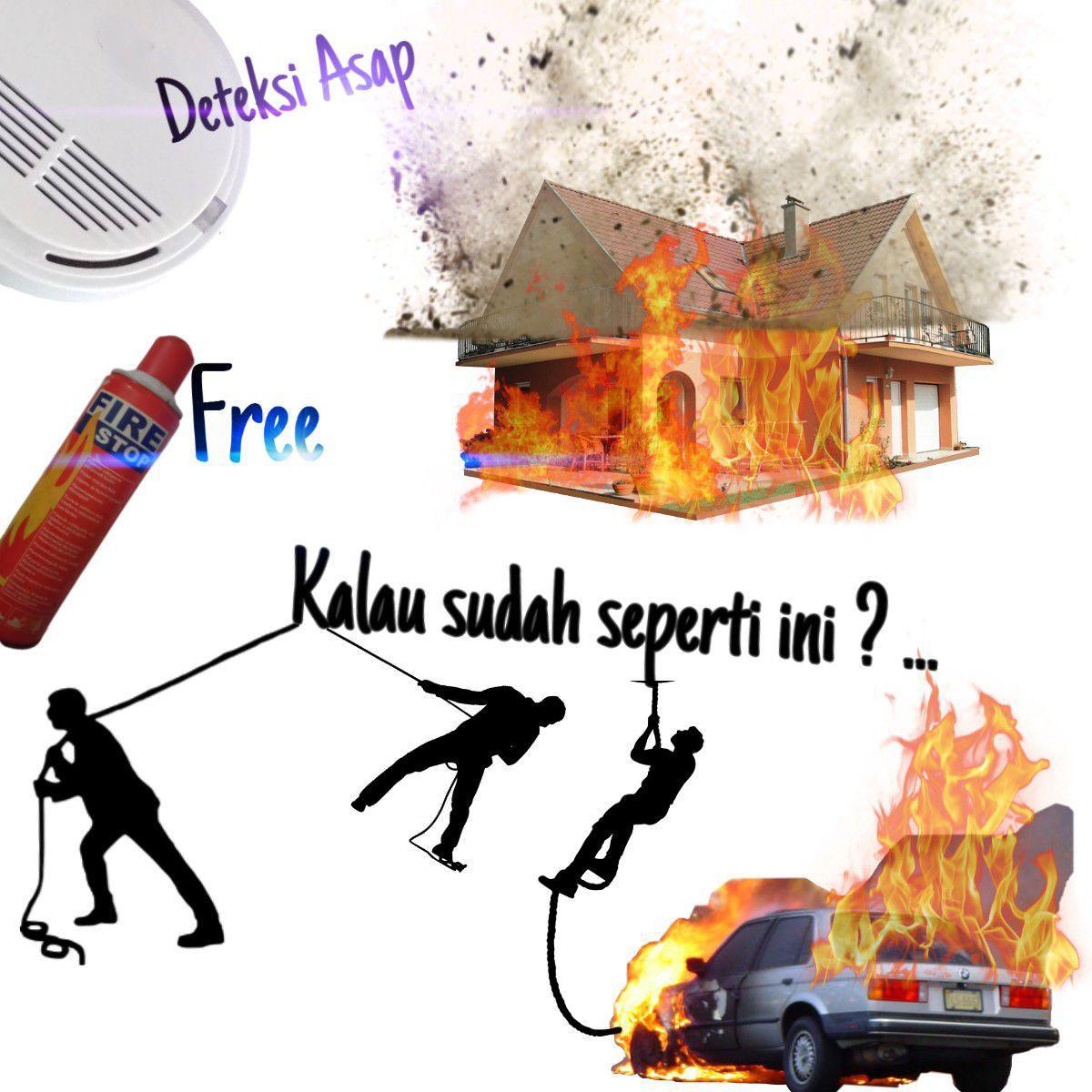 Alat deteksi asap kebakaran Smoke detector portable
