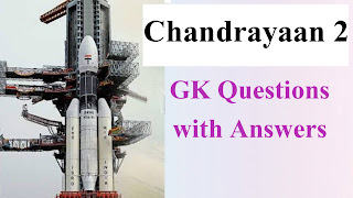 GK Questions on Chandrayaan 2 with Answers