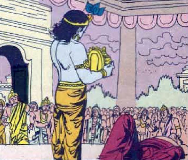 Krishna and Kamsa