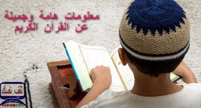 معلومات هامة وجميلة عن القرآن الكريم..ثقف نفسك