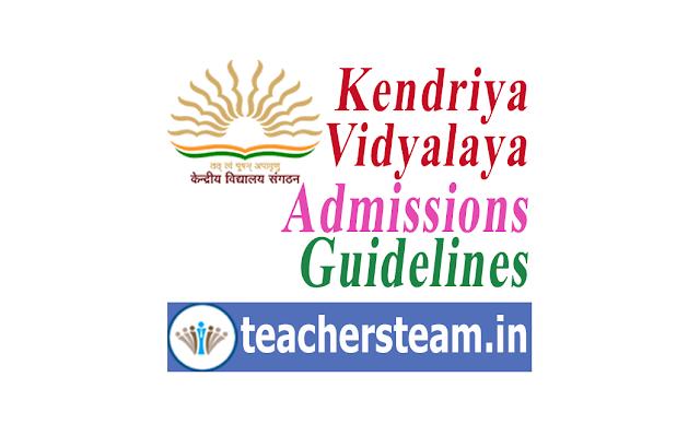 KVS Online Admission Guidelines - Kendriya Vidyalaya Admissions Guidelines