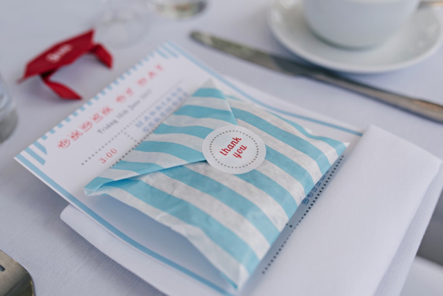 Vintage seaside wedding - sea salt fudge favours
