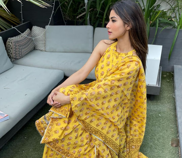 Mouni Roy Looks Glamorous in Yellow Sharara
