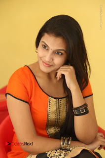 Telugu Actress Chandana Stills in Salwar Kameez at Karam Dosa Movie Press Meet  0079.JPG