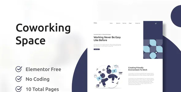 Best Coworking Space Elementor Template Kit