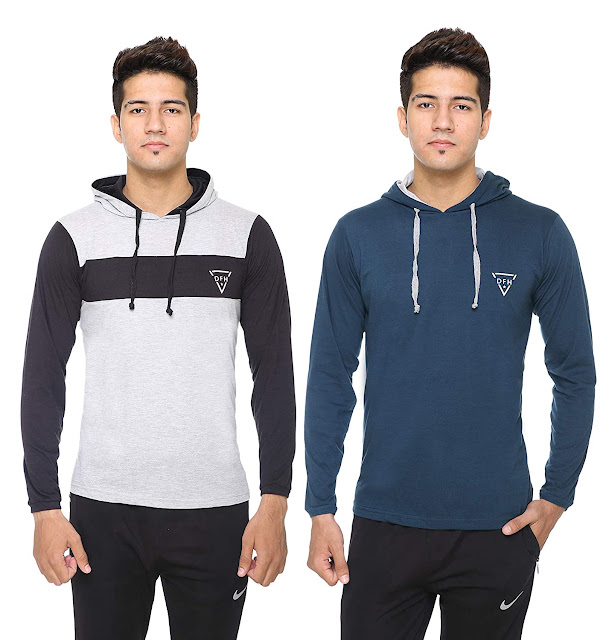 Buy DFH Men Hooded T-Shirt (Pack of 2) At Amazon.in