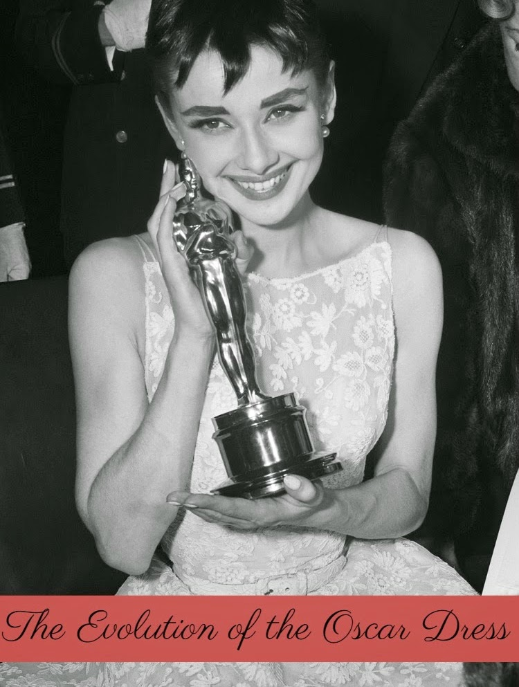 A Vintage Nerd Vintage Blog Audrey Hepburn Oscar Evolution of the Oscar Dress Oscar Fashion Vintage Fashion Retro Fashion Old Hollywood Fashion