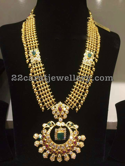 Kundan Balls Gold Long Haram