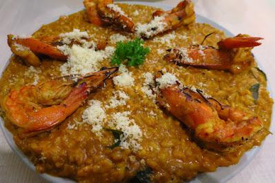 Wicked Garlic, curry prawn risotto