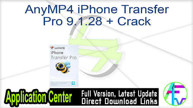 AnyMP4 iPhone Transfer Pro 9.1.28 + Crack