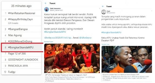 Kasus KPU Terus Bergulir, Tagar #BongkarSkandalKPU Bergemuruh