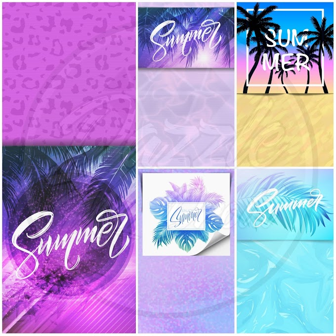 Tropical Summer FREEBIE wall set
