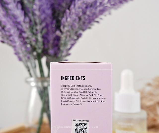 Ingredient Indoganic Bakuchiol Face Oil