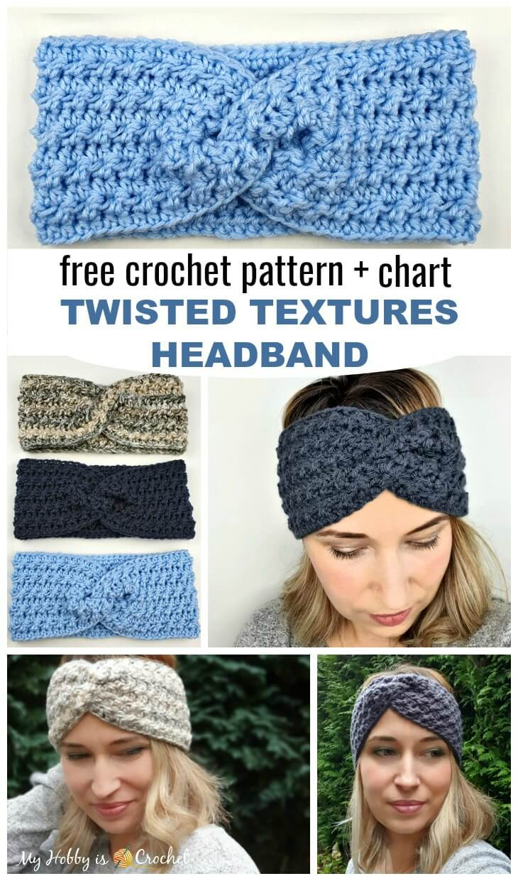 Twisted Textures Headband Free Crochet Pattern