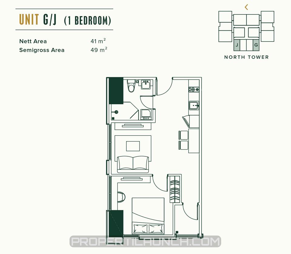 Apartemen Southgate Jakarta Tipe 1BR