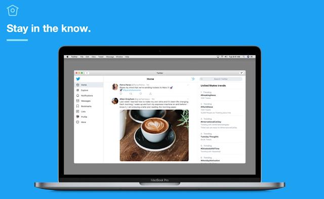 تطبيق تويتر الجديد متوفر الآن لنظام Mac