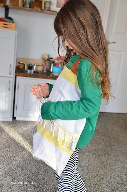 tea towel apron simple to do