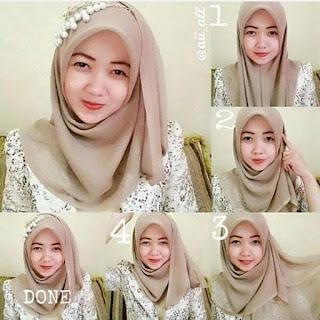 jilbab segi empat anggun dan modis