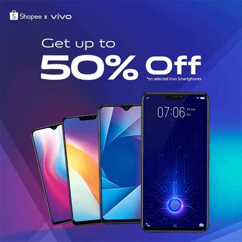 Vivo announces Super Day with Shopee with up to 50 percent off on phones!