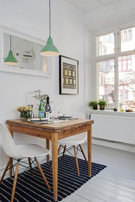 Ideias de decoração para salas de jantar pequenas
