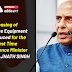 Leasing of defence equipment introduced for the first time by Defence Minister Shri Rajnath Singh