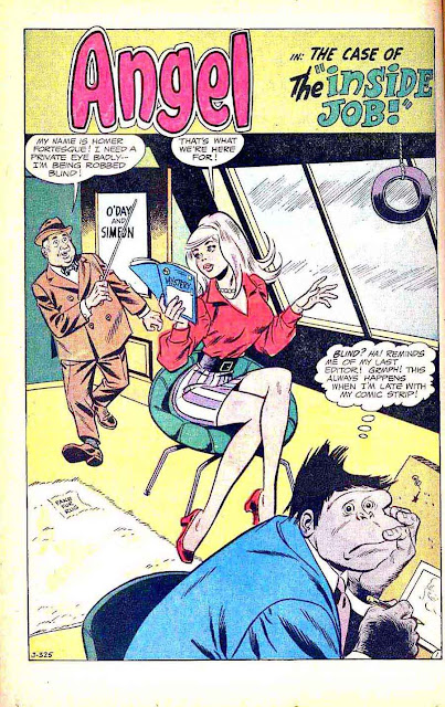 Meet Angel v1 #7 - Wally Wood dc silver age 1960s comic book page art