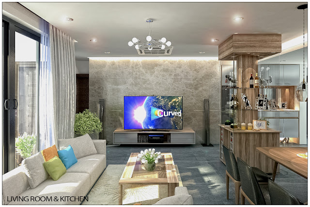 Ảnh minh họa Livingroom &kitchen1 liền kề thanh hà