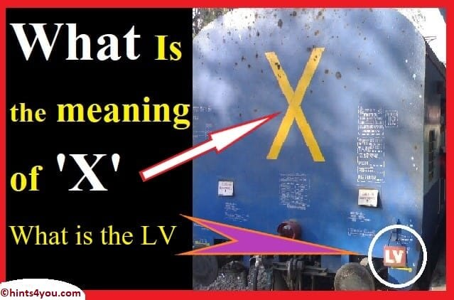 Meaning of 'X' written on the train: