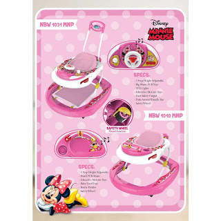 Baby Walker Disney Minnie Mouse Lisensi NBW1031MNP