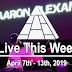 Live This Week: April 7th - 13th, 2019