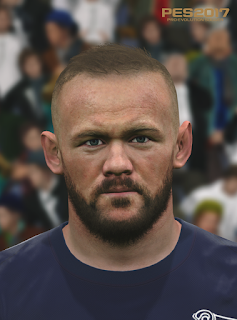 PES 2017 Faces Wayne Rooney by Love01010100