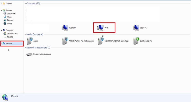 Printer Bersama Melalui Fasilitas LAN atau WIFI