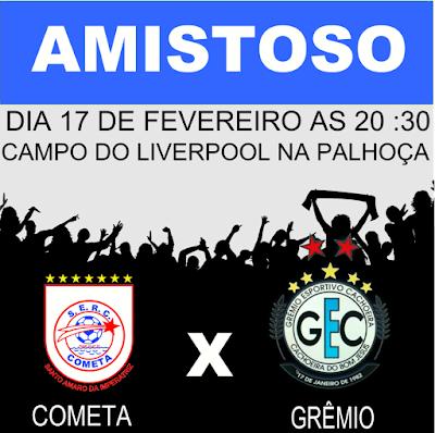 Grêmio Cachoeira realiza amistoso nesta quarta 17/2