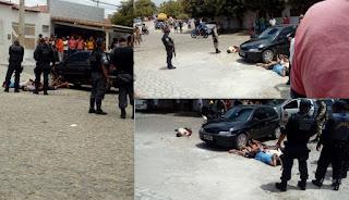 Assalto, perseguição, intensa troca de tiros e quatro bandidos baleados em Currais Novos